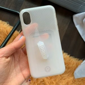 iPhone X/XS Loopy Original White/Clear Ombré Case